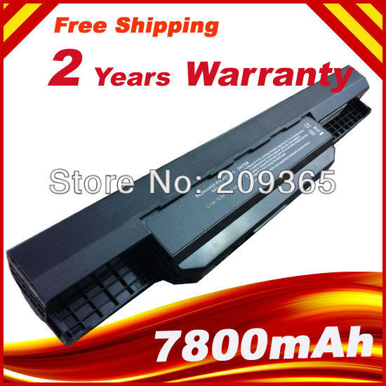 7800mAh 9 Cells Laptop Battery For Asus k53sv K53S K53T K53U A41-K53 A32-K53 K53BY K53E K53F K53SJ K53S/E K53SD K53U new genuine 14 4v 5200mah 74wh 8 cells a42 g55 notebook li ion battery pack for asus g55 g55v g55vm g55vw laptop