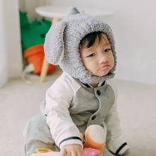 New Children Girls Boys Hat Baby Plush Warm Cute Rabbit Ears Hats 2018 Fashion Winter Baby Thick Knit Caps Outdoors Cap Hot F1(China)