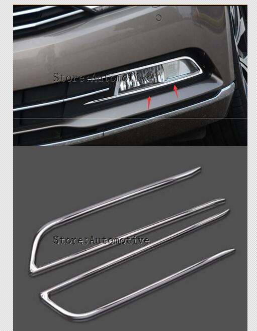 2017, 2018, 2019, высококачественные передние противотуманные фары из нержавеющей стали, Накладка для противотуманных фар, Накладка для Volkswagen VW ...