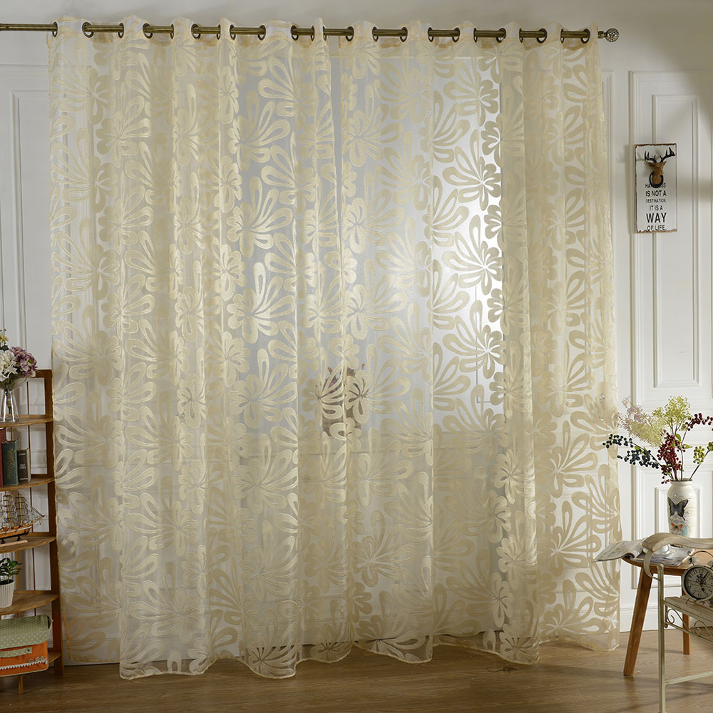 6 1 2 Sips Curtain Wall : Pcs m high quality modern tulle curtain half shading