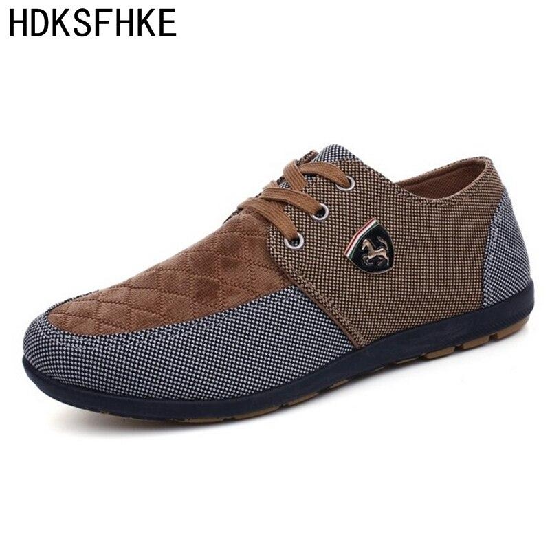2018 Scarpe uomo Casual mens scarpe di tela per scarpe da uomo Appartamenti degli uomini di modo di marca di modo Zapatos de hombre