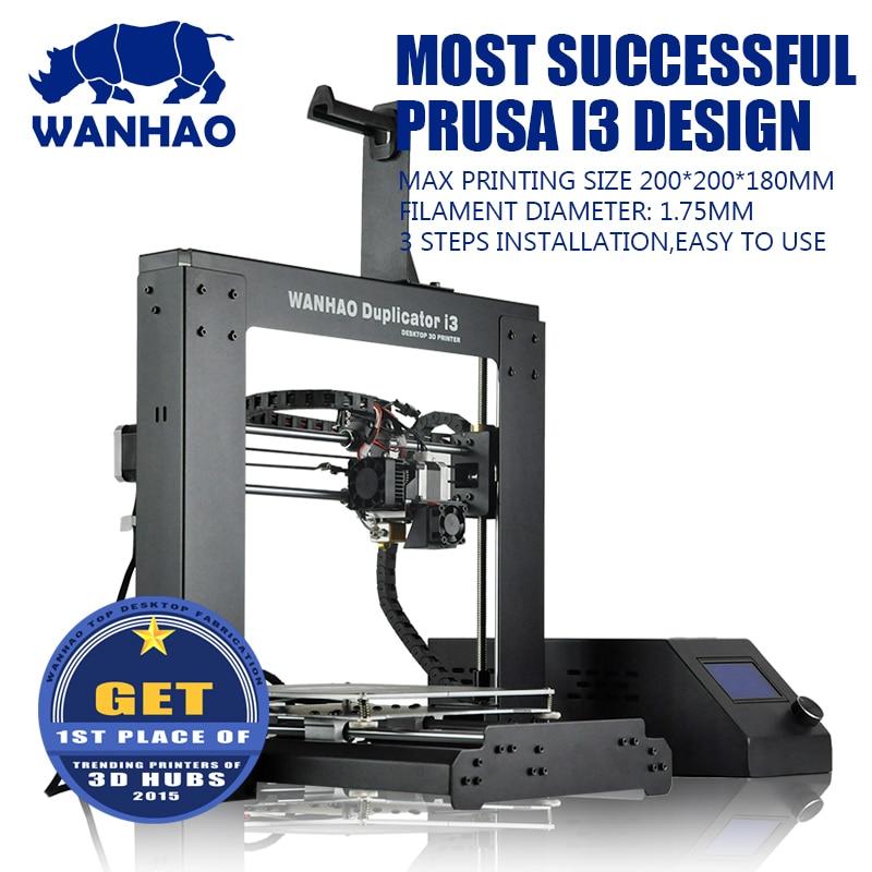 WANHAO I3 V2.1 3d printer, semi aoto leveling 3d printer, reprap prusa I3 DIY kits, full mental large printing size high quality