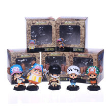 5 pçs/lote 10 cm 2 estilo One Piece action figure Dos Desenhos Animados Tony tony Chopper cosplay Luffy Ace Sabo anime Nendoroid brinquedos(China)