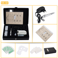 Professional Permanent Eyebrow Lip Eyeliner Makeup Machine Kit with Tattoo Machine Gun Needles Rings Power Supply