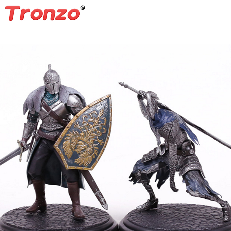 Tronzo 18cm Dark Souls PVC Action Figures Collectible Model Toy ARTORIAS DXF Faraam Knight Figure Dolls Birthday Gift For Boy