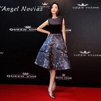 Angel Novias Sexy 2018 Short Celebrity Dress Keyhole Back Knee Length Prom Dress