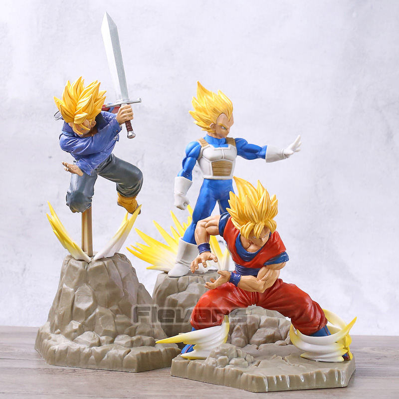 Dragon Ball Z Super Saiyan Son Goku / Vegeta / Trunks PVC Figure DBZ Collection Model ToyDragon Ball Z Super Saiyan Son Goku / Vegeta / Trunks PVC Figure DBZ Collection Model Toy