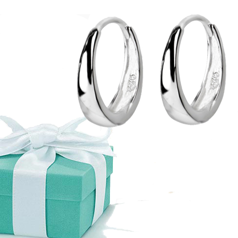 New Perak Disepuh Huggie Hoop Earrings Musim Panas Gaya Sederhana - Perhiasan fashion - Foto 6