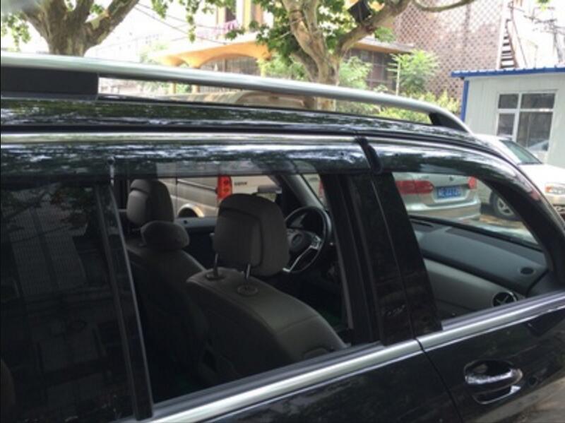 4pcs Chrome Window Visor Deflector Rain Shield For Mercedes Benz GLK GLK200 GLK220 GLK250 GLK300 GLK350