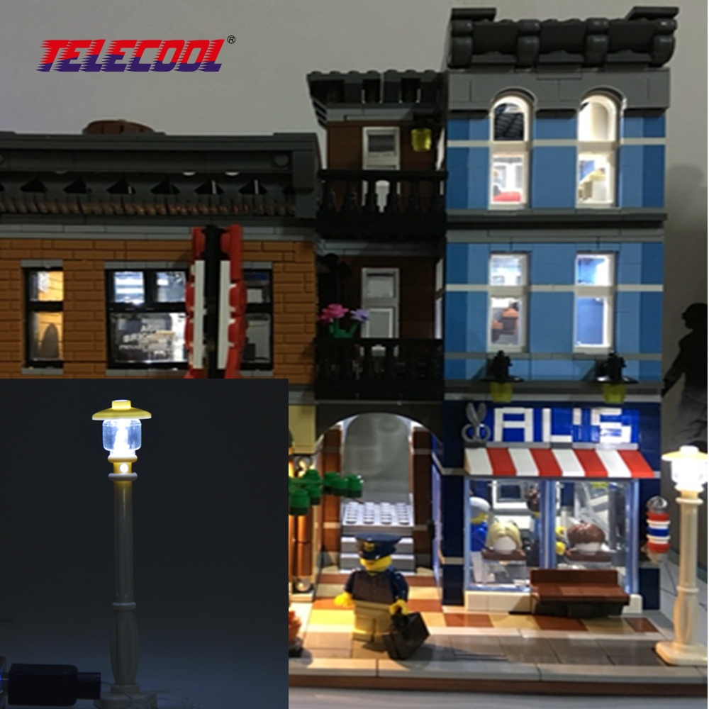 TELECOOL 1stk LED Street Light til DIY figurer Building Blocks Toy kan dekorere alle Building Blocks Legetøj