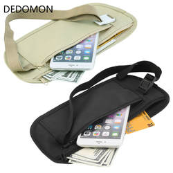 Тканевые поясные сумки Дорожная сумка Скрытый кошелек для паспорта Деньги поясная сумка тонкая секретная безопасность полезные дорожные