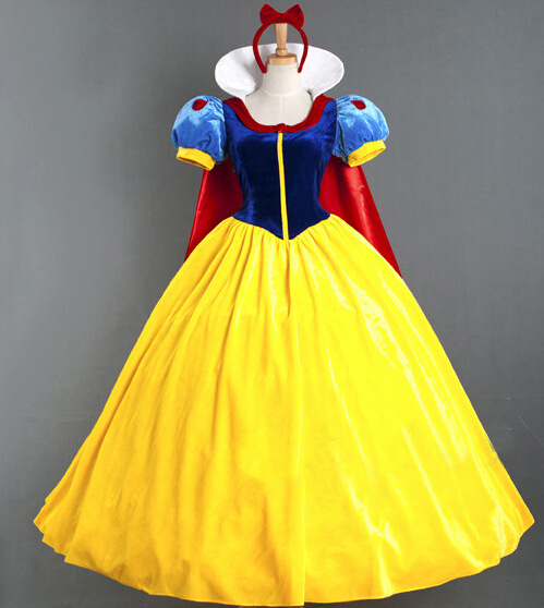 Anime Costumes Adult Halloween Cartoon Princess Snow White Costume Women For Sale white snow princess