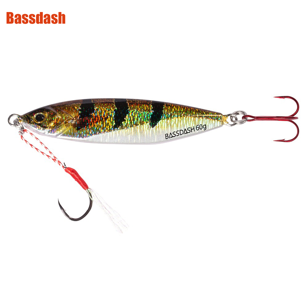 Bassdash Shadow Jig Lures with VMC Hooks 40/60 Grams, for Saltwater Freshwater Fishing, One PieceBassdash Shadow Jig Lures with VMC Hooks 40/60 Grams, for Saltwater Freshwater Fishing, One Piece