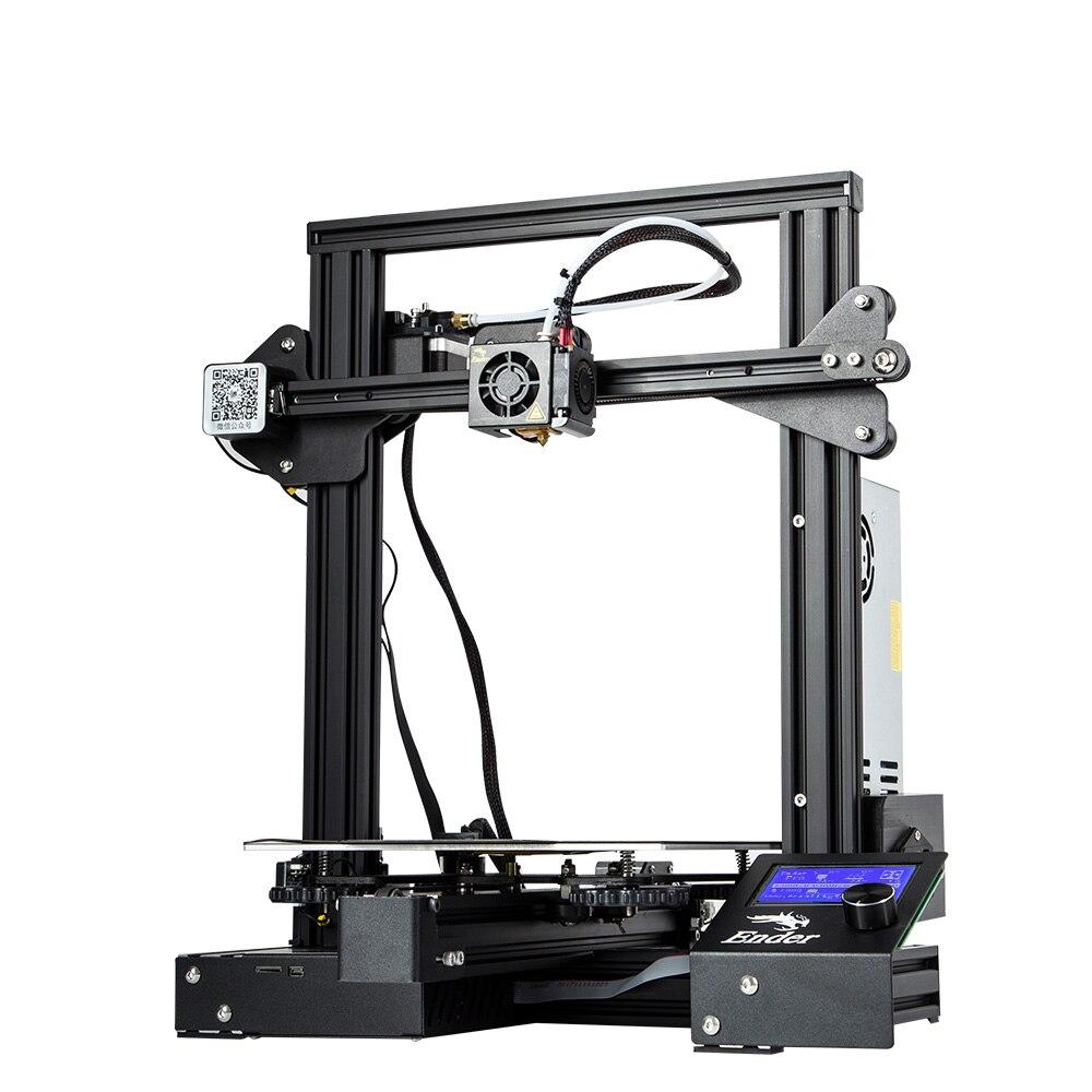 Nueva actualización Ender 3 Pro CREALITY 3D Kit de impresora con etiqueta adhesiva Cmagnetic Bulid para volver a imprimir fuente de alimentación de la marca - 3