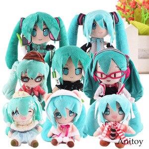 Аниме плюшевые игрушки, тканевые плюшевые куклы Vocaloid Hatsune Miku, милые набивные игрушки для детей, Размер 23-33 см, для детей