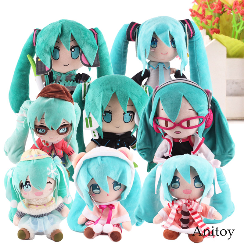 Anime Plush Toy Fabric Plush Vocaloid Hatsune Miku Doll Cute Stuffed Toys for Children 8 Styles 23-33cm