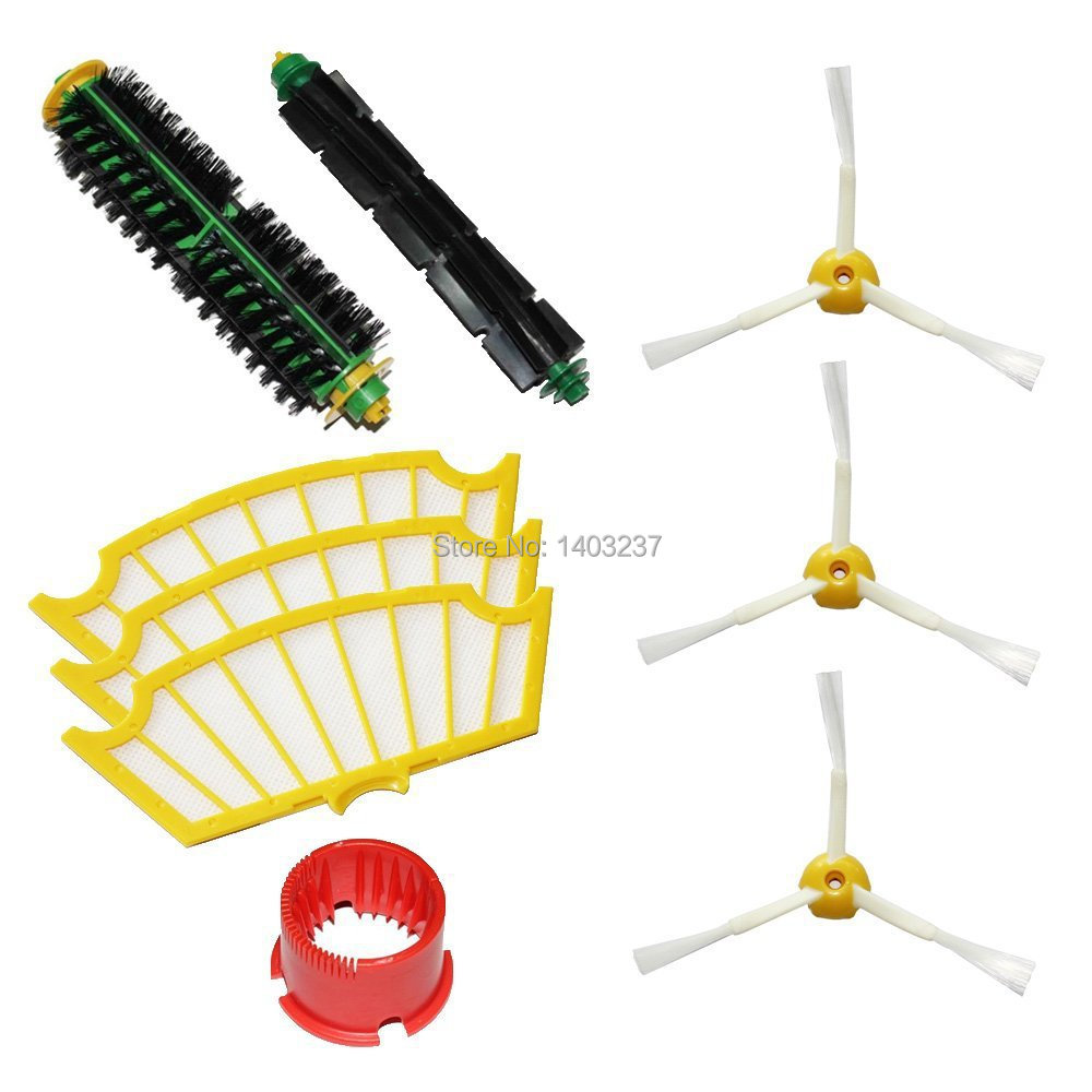 Bristle Brush Flexible Beater Brush Side Brush 3-Armed Filters Cleaning Tool Pack Kit for iRobot Roomba 500 Series vacuum cleaning kit attachement kit dusting dusting brush nozzle crevices tool upholster tool for 32mm
