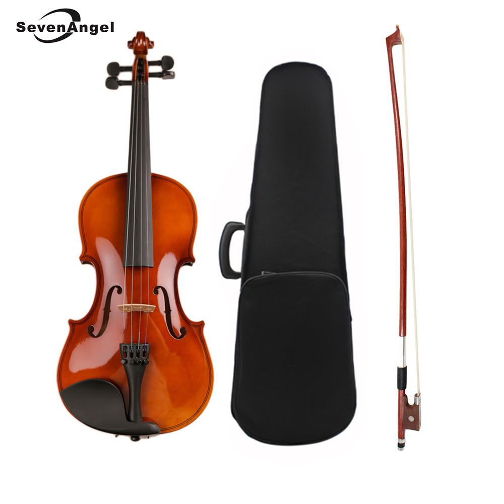 High Quality Violin Fiddle Stringed Instrument Musical Toy for Kids Beginners Violino Basswood Body Steel String Arbor Bow Rosin handmade new solid maple wood brown acoustic violin violino 4 4 electric violin case bow included