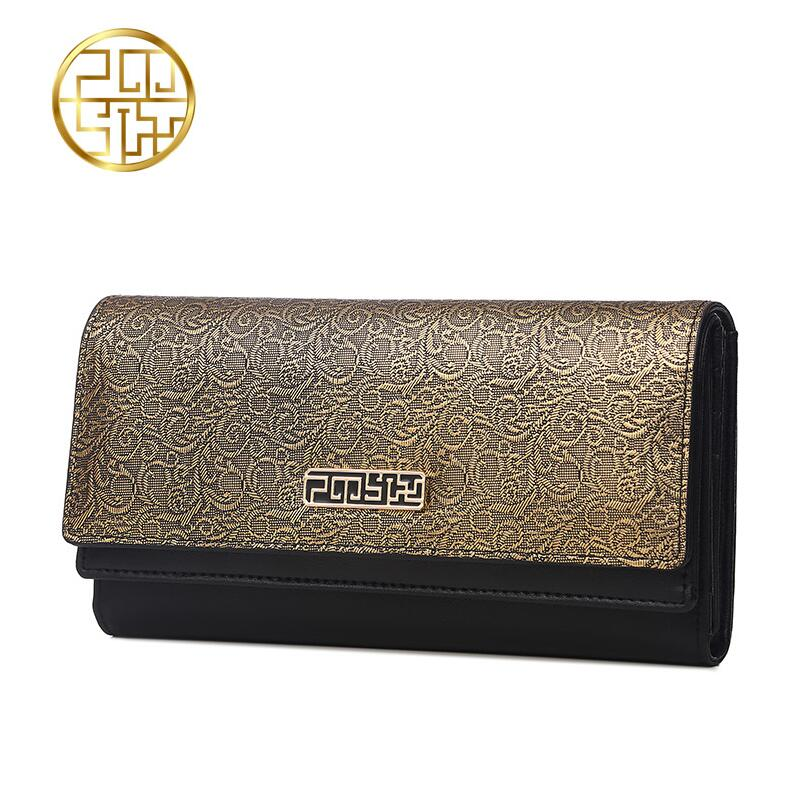 Genuine Leather Women's bag  Pmsix 2016 autumn and winter long wallet Retro currency bills folder Dinner Package pmsix 2018 new autumn