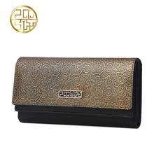 Genuine Leather Women's bag  Pmsix 2016 autumn and winter long wallet Retro currency bills folder Dinner Package