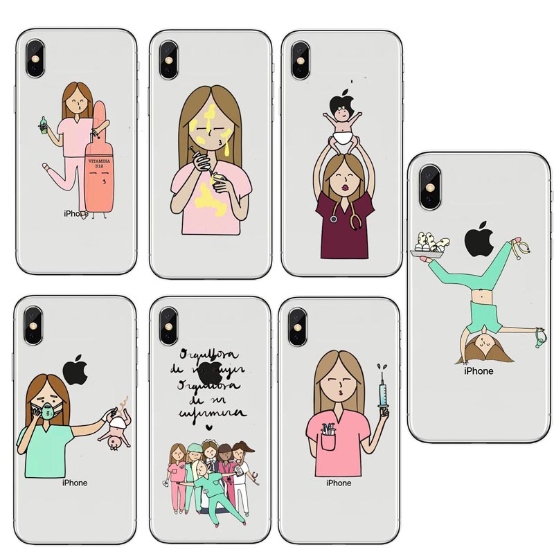 Cellphones & Telecommunications Spain Cute Cartoon Medicine Nurse Doctor Dentist Case For Iphone X Se 5s 6 6s 6plus 7 8plus Soft Silicone Tpu Back Cover Capa Always Buy Good Phone Pouch