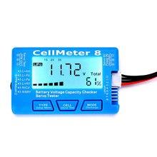 Medidor de capacidade da bateria, medidor de capacidade da bateria digital lcd rc cellmeter8 2 8s 4 8s servo lipo li testador de bateria de ion nimh rc cellmeter7