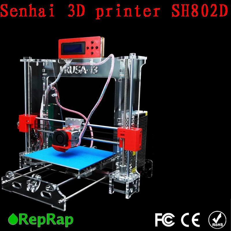 Standard Auto leveling Prusa i3 3D Printer DIY KIT 802D 802DA Transparent LCD Screen
