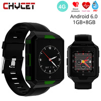 Smart Watch Android 6.0 With 4G Sim Card Wifi Bluetooth 1G 8G Waterproof IP67 Smartwatch Blood Pressure GPS Google Map Tracker