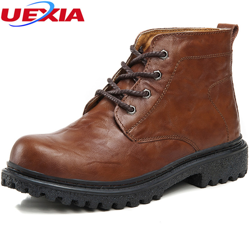 Motorcycle Boots Men Winter Fur Plush Martin Ankle Boots Tooling High Work Safety Shoes Men Non-slip Oxfords Rubber Shoe Male 2015 tigergrip lightweight waterproof non slip shoe covers man hotel kitchen work shoes rubber overshoes for special work