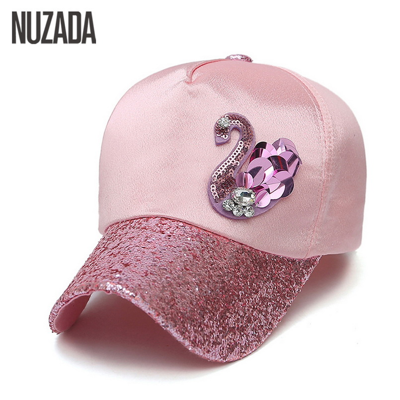 Brands NUZADA New  2017 Ladies Women Baseball Caps Snapback Spring Summer Autumn Bone Hip Hop Hats Sunscreen Leisure Cotton Cap brand nuzada snapback summer baseball caps for men women fashion personality polyester cotton printing pattern cap hip hop hats