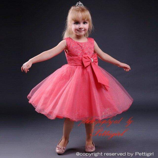 New Model Girl Party Dress With Bow Chiffon Sleeveless Fashion ...