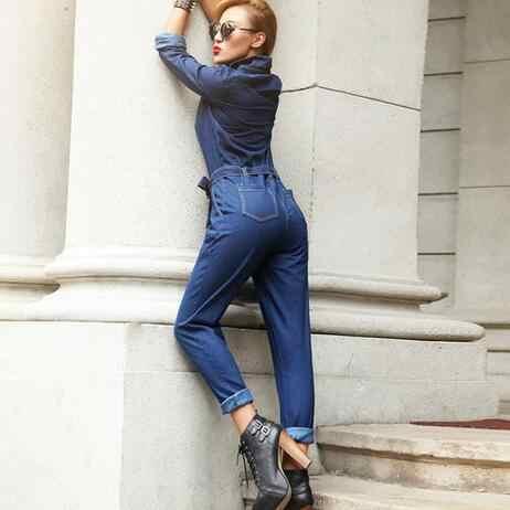 Nuevo 2019 mujer prendas mono de las mujeres de la marca denim mono tallas DC26