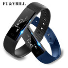 Fu&y Bill ID115 Smart Bracelet Fitness Tracker Step Counter Activity Monitor Band Wristband for iphone Android phone PK MI2 D21