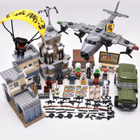 legoINGly Weapons PUBG military army soldiers SWAT Police building blocks bricks Figures DIY kids toys for children arma awp ww2