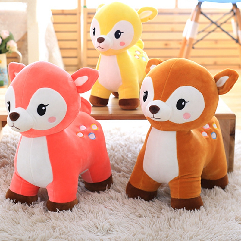 25-40cm 2018 New style standing deer plush toys living room decorate Stuffed plush Sika Deer doll baby kids toy