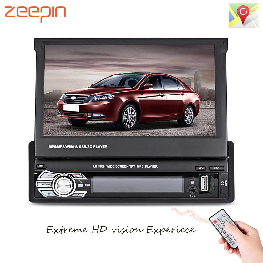 Zeepin 9601G 1 Din Car Video MP5 Player 7 Inch HD Touch Screen Bluetooth FM Radio European GPS Map USB Auto Multimedia Autoradio 7 touch screen 7026 car bluetooth mp5 player gps navigation support tf usb aux fm radio rearview camera steering wheel control
