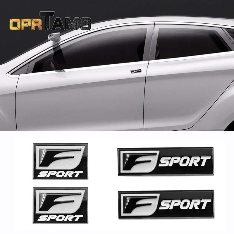 2pec/set F Sport Fsport Metal Emblem Badge Car Stickers rear Trunk Decals For Lexus RX ES IS IS200 IS300 RX330 RX350 Car Styling ...
