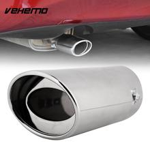 Vehemo Tail Muffler Throat Pipe Exhaust Pipe Accessories Auto Replacement Silencers Automobile Universal Chrome Stainless Steel