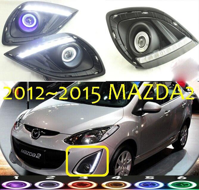 2013~2015,Mazd2 fog light,Free ship!halogen,mazd2 headlight,Tribute,RX-7,RX-8,MX-3,Miata,CX-3,CX-5,mazd2 day lamp cafoucs car front bumper fog lights fog lamp include light bulb for mazda 5 cx 7 mx 5 mpv miata
