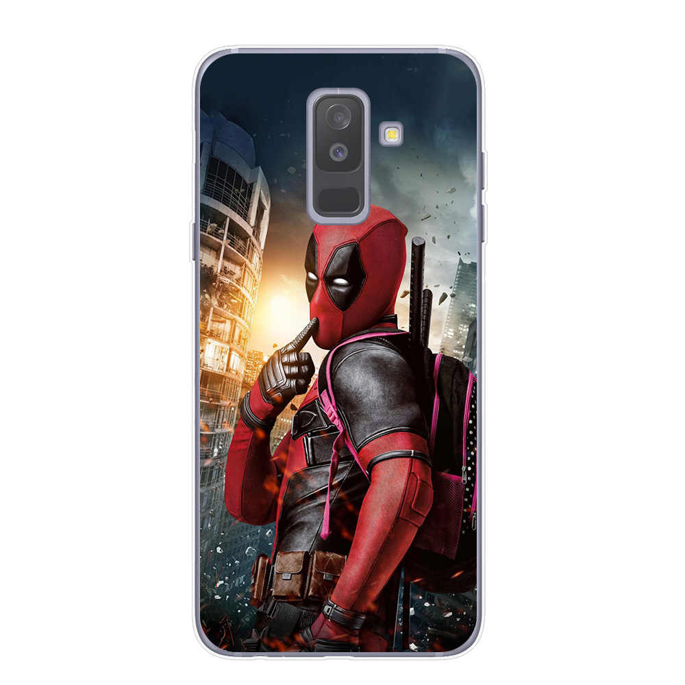 Heróis da Marvel Avengers Case For Samsung Galaxy J3 J5 J7 A5 2017 J4 J6 A6 A7 A8 Plus 2018 Macio casos TPU Capa Homem de ferro Do Homem Aranha