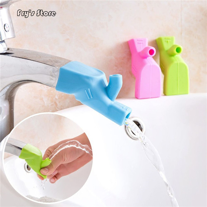 2019 New 3 Colors Available Extender Premium Baby Washing Hands Faucet Extender Fountain Silicone Tap Kitchen Faucet Accessories
