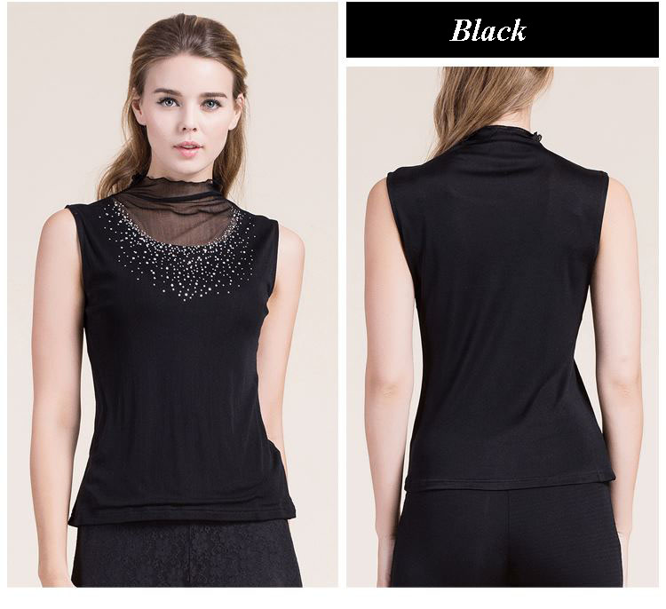 High end pure silk knitted lady turtleneck sleeveless diamond vest,100% natural silk mesh stringy selvedge tank tops