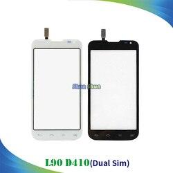 4.7'' D410 Touch Panel for LG L90 Dual Sim D410 Touch Screen Digitizer Sensor Front Glass Lens Black White Mobile Phone Parts