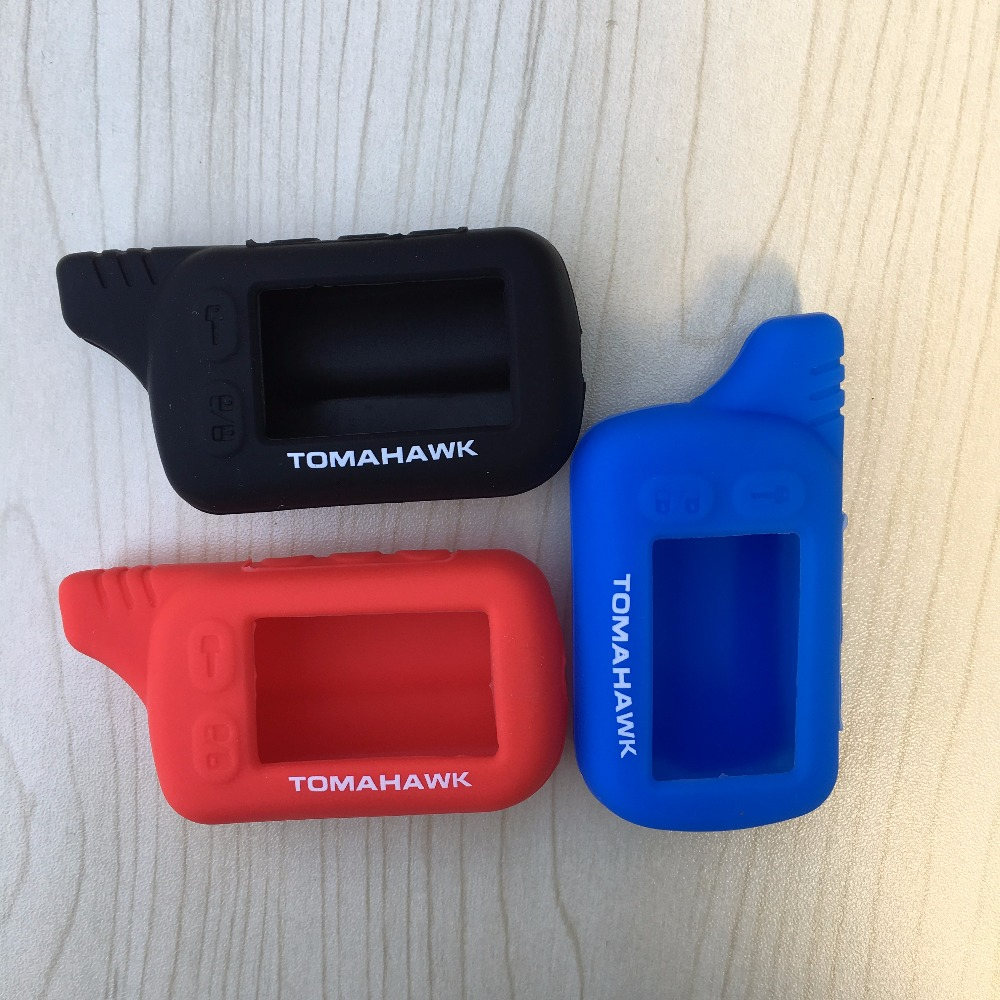 TZ 9010 Silicone Case KeyChain For Russian 2-way Alarm System Key Fob Tomahawk TZ-9010 TZ9010 Tomahawk TZ9030,TZ 9030,TZ-9030 чехол для брелка сигнализации tomahawk 7000 7010 9000 9010 new кобура замша синяя