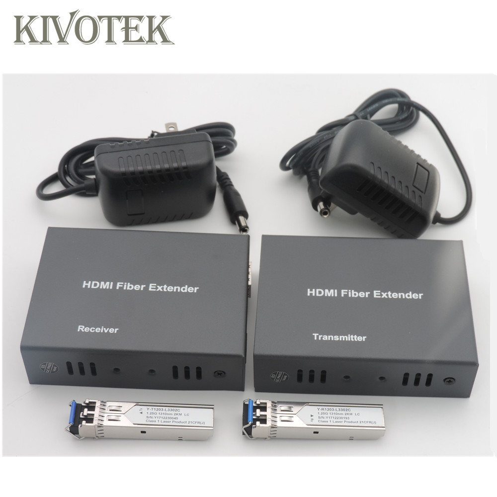 Image 4 - 1080p HDMI Extender Transceiver Adapter Split Extension HD Video Sender/Receiver 2km by Fiber Cable,SFP Connector Free Shipping-in Computer Cables & Connectors from Computer & Office