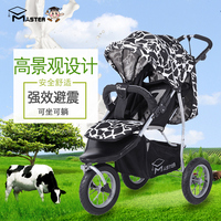 Babyfond Master inflatable wheel baby stroller shock tricycle BB car high landscape folding babys pram
