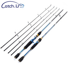 Catch.U 1.8m Spinning Fishing Rod 2 Section Lure Rods Spinning Carbon Pole Hard Sea Fishing Rod Casting Blue Line WT.8-16lb