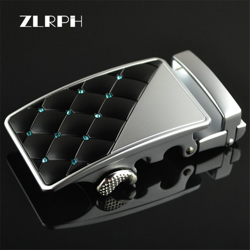 ZLRPH  Leather Belt Luxury Diamonds Automatically Men Belt Belts For Men