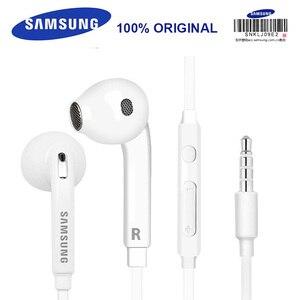 Наушники Samsung EO-EG920, проводные гарнитуры с микрофоном, 3,5 мм, спортивные стереонаушники для смартфонов/ПК/планшета/ноутбука Galaxy S8 S9