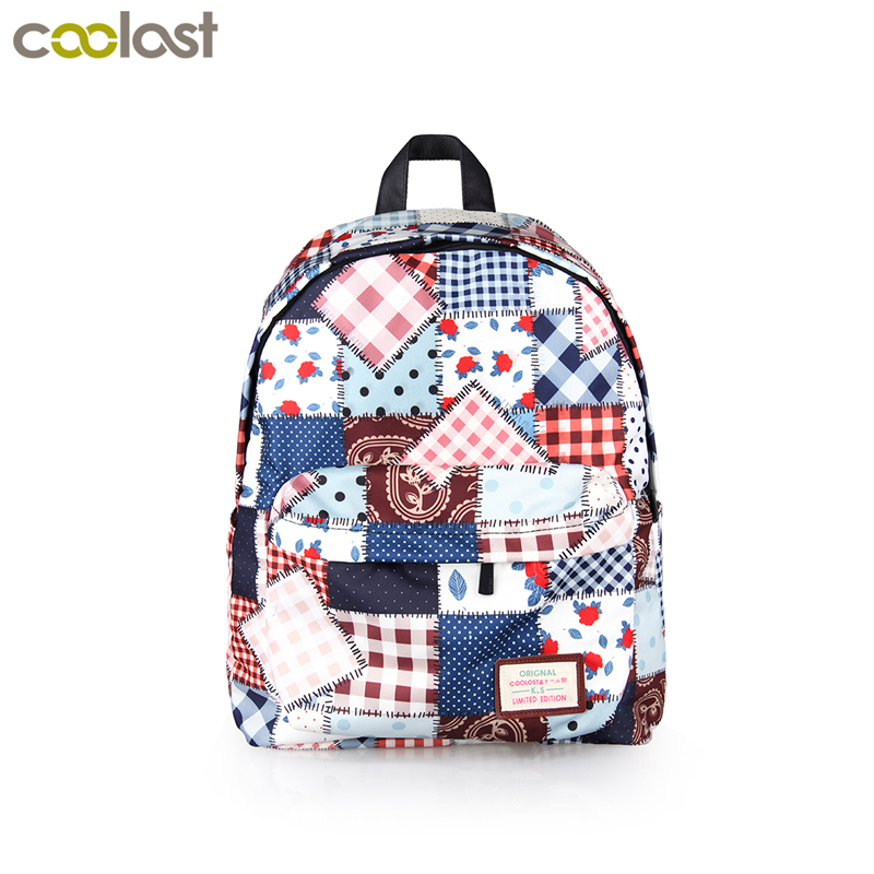 Cute Patchwork Backpack For Teenage Girls Preppy Style High School Bag Women Shoulder Backpack Children School Bags Bookbag Gift 2017 new style running shoes man cushioning breathable cool textile sneakers red black men light sports shoes